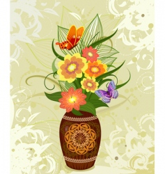 decorative flower in a vase vector image