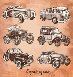 Set of retro-cars vector