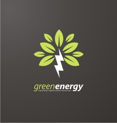 Creative symbol concept for renewable energy vector