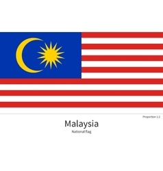 National flag of malaysia with correct proportions vector
