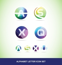 Colored alphabet letter set vector