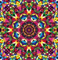 Bright seamless kaleidoscope pattern vector