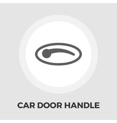 Car door handle flat icon vector image