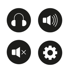 Music player icons vector