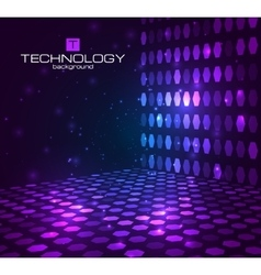 Abstract hexagonal background Retro disco stage vector image vector image