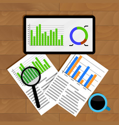 Analytics and statistics vector