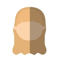 Avatar woman face profile online shadow vector