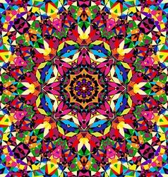 bright seamless kaleidoscope pattern vector image