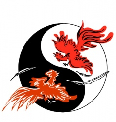 fighting roosters vector image