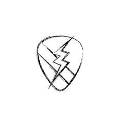 figure rock emblem with thunder symbol design vector image