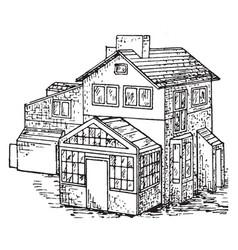 House vintage vector