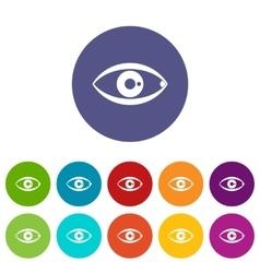 Human eye set icons vector image vector image