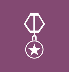 Icon military medal vector