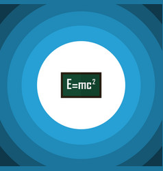 Isolated formula flat icon theory of relativity vector