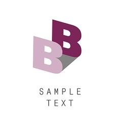 Letter b icon vector