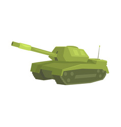 military tank cartoon vector image
