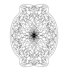 Monochrome black and white lace ornament vector image