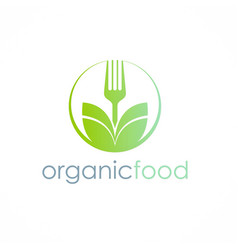organic food logo vector image
