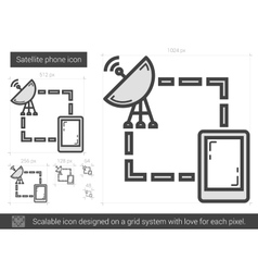 Satellite phone line icon vector