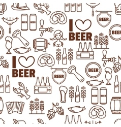 Seamless background of Oktoberfest elements vector image