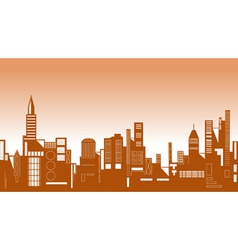 skyline vector image vector image