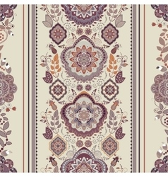 Striped floral pattern vector