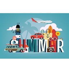 Summer banner vector