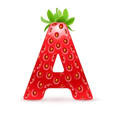 Tasty alphabet vector image
