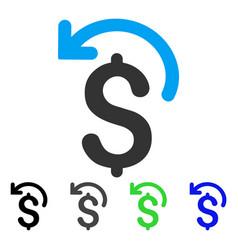 Undo payment flat icon vector