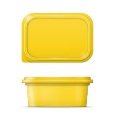 Yellow margarine spread template vector