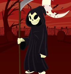 young grim reaper vector image vector image