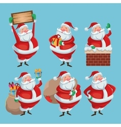 Santa cartoon of christmas season design vector