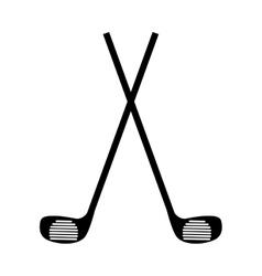 golf club equipment icon vector image