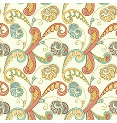 seamless floral spring abstract pattern vector image