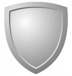 triangular shield vector image