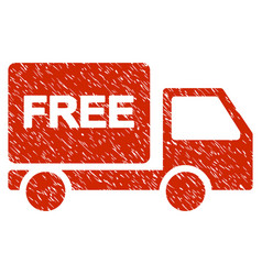 free delivery grunge icon vector image