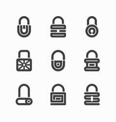 Abstract padlock icons vector