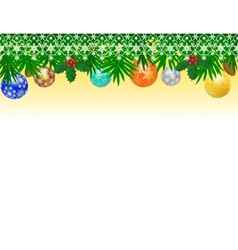Border from christmas balls vector