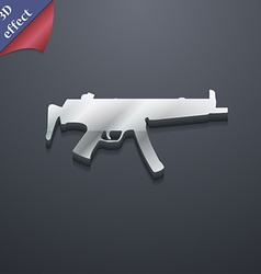 Machine gun icon symbol 3d style trendy modern vector