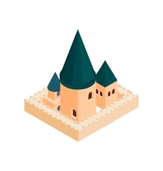 Roman catholic church isometric 3d icon vector