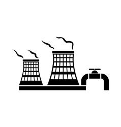 Tower of chemical factory icon simple style vector