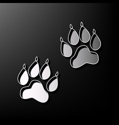 Animal tracks sign gray 3d printed icon vector