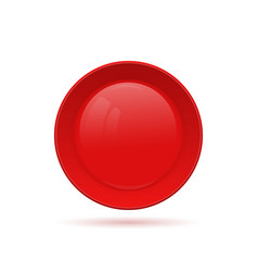 Blank round button for website 3d glass button vector