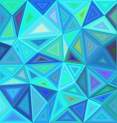 Blue triangle mosaic tile background design vector