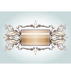 Brown and beige brooch vector image vector image