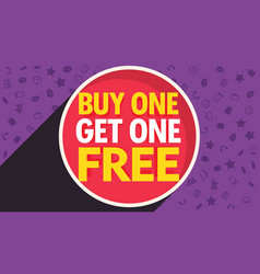 Buy one get one free discount voucher design vector