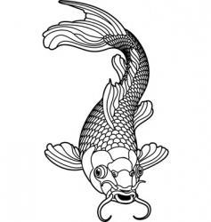 Carp fish vector