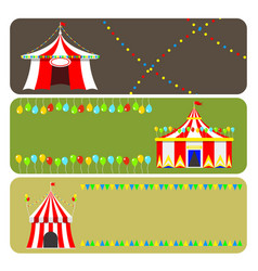 circus show entertainment tent marquee brochure vector image