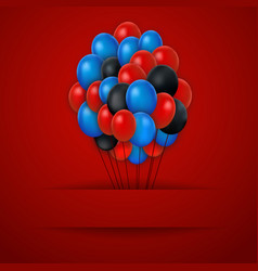 Colorful balloons red background vector