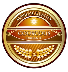Couscous Organic Label vector image vector image